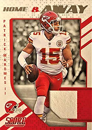 81cfe48e Image Unavailable. Image not available for. Color: 2018 Score NFL Football  Card - PATRICK MAHOMES II Game Worn Jersey Card - Home &