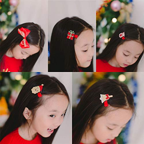 Christmas Hair Bows For Toddlers.Details About Cozywind Christmas Hair Clips For Girls Barrettes Toddler Hair Bows Kids Glitter