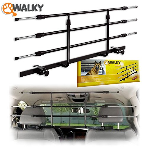 Vehicle Dog Safety Barrier (Walky Guard Adjustable Car Barrier for Pet Automotive Safety)