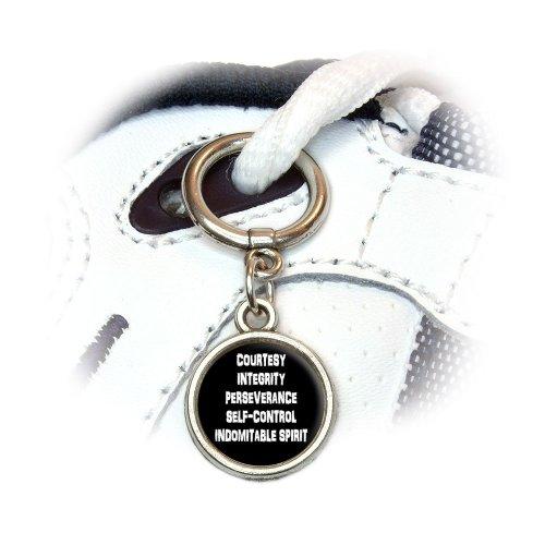 5 Tenets of Taekwondo Shoe Sneaker Shoelace Appeal Ornament