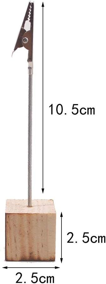 STOBOK Porta carte di base in legno porta-numeri di tabella,confezione da 10 pezzi