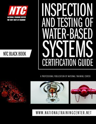 NTC Black Book Inspection And Testing Of Water Based