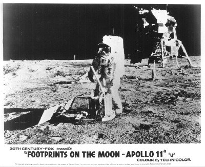 Posters Nasa Program Footprints On The Moon Original Apollo 11 Rare Poster