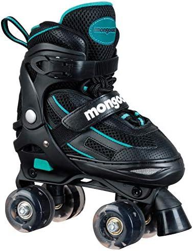 Mongoose Roller Skates for Girls Adjustable with Light Up Wheels Beginner Inline Skates Fun Illuminating for Kids Boys and Girls