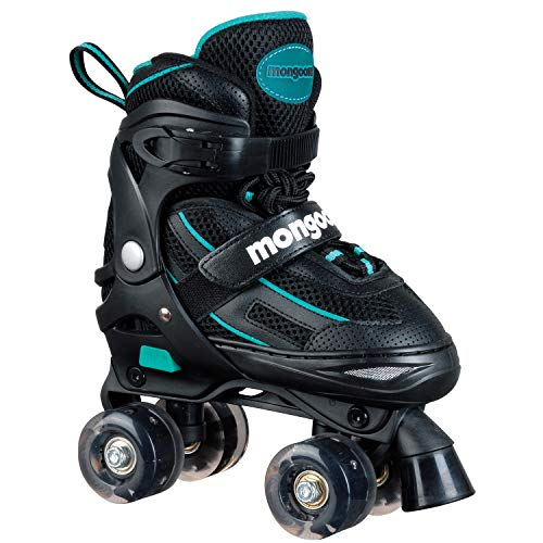 Mongoose Kids Light-UP LED Adjustable Roller Skates