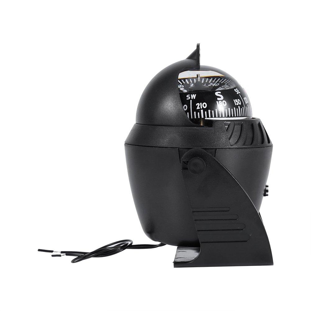 br/újula de navegaci/ón electr/ónica de Alta precisi/ón con luz LED para veh/ículos Marinos VGEBY1 Br/újula pivotante