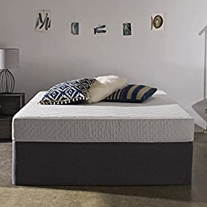 Sleep Innovations Sage 8-inch Gel Memory Foam Mattress, Made in the USA with a 20-Year Warranty - Twin Size