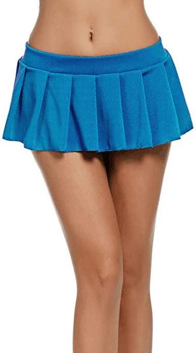 Lenfesh Minifalda Sexy de Cintura Baja de Club para Mujer Moda ...