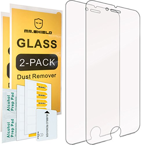[2-PACK]-Mr Shield For iPhone 6/6S Plus [Tempered Glass] Screen Protector with Lifetime...