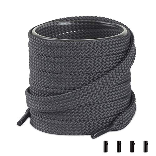 """Shoemate Thick Flat Solid Color 5/16"""" Shoe Laces for Sneaker"""