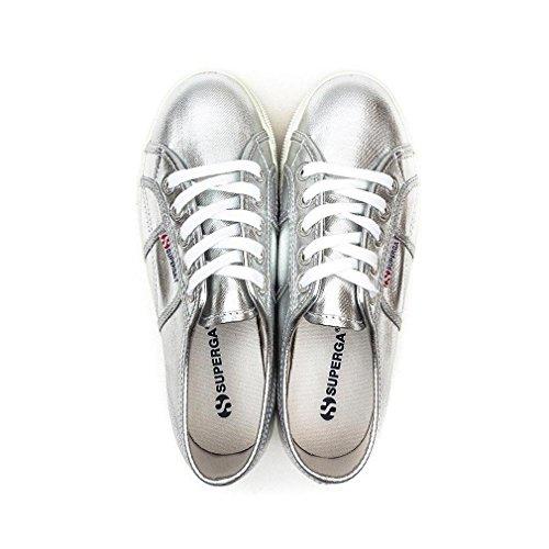 plateado Cotmetw Superga Tobillo silver Mujer 2790 bajo wOwqvTz7