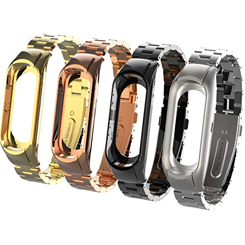 Amazon.com: Love Environment 3 Metal Leather Wristband for Xiaomi Mi Band 3 Watch Strap for Xiaomi Mi Band 2 Bracelet Correa Xiaomi MiBand 3 2 Bands: ...