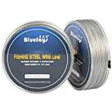 100M 33LB Fishing steel wire Fishing lines max power 7 strands super soft wire lines Cover with plastic Waterproof Diameter 0.6mm