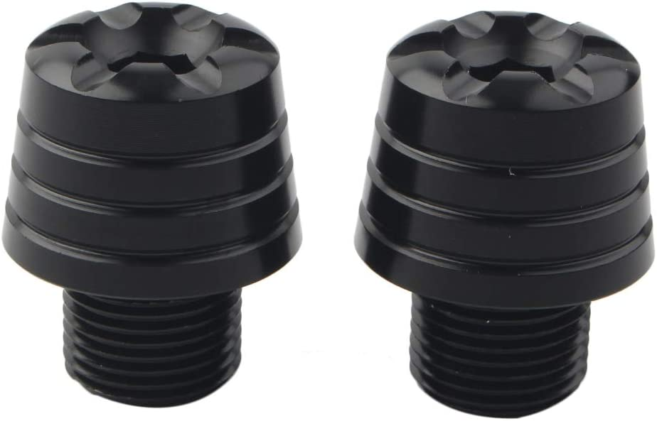 1199 Panigale 2011-2014 Hand Grip Plugs Caps Compatible with Ducati 899 Panigale 2013-2015 959 Panigale 2016-2019 Three T Handlebar End Plugs 1299 Panigale 2015-2019 Black