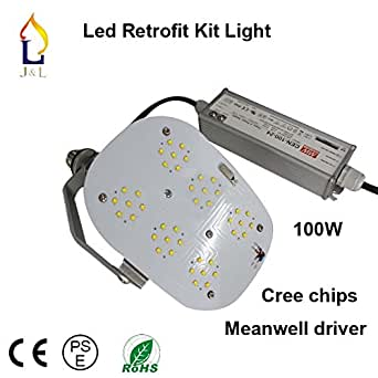100W/120W/150W SMD3030 Led Retrofit Kits With Meanwell Driver For Outdoor Flood Lighting 140Leds (120W MEANWELL DRIVER 3030)