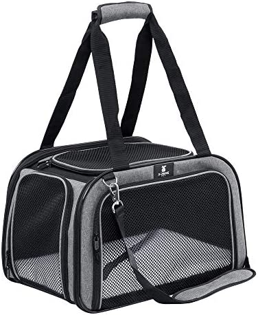 X-ZONE PET Pet Carrier for Dog and Cats, Airline Approved Soft-Sided Pet Travel Carrier,Portable Kennel for Puppies