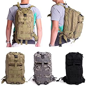 HDE Military Tactical Backpack Expandable Small Lightweight Assault Pack 20L MOLLE Combat Bug Out Bag for Outdoors, Hiking, Camping, Trekking and Traveling
