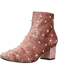 Women's Darcey Starburst Block Heel Ankle Boot with Pearls