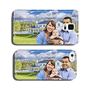 Happy Mixed Race Young Family in Front of House cell phone cover case iPhone6