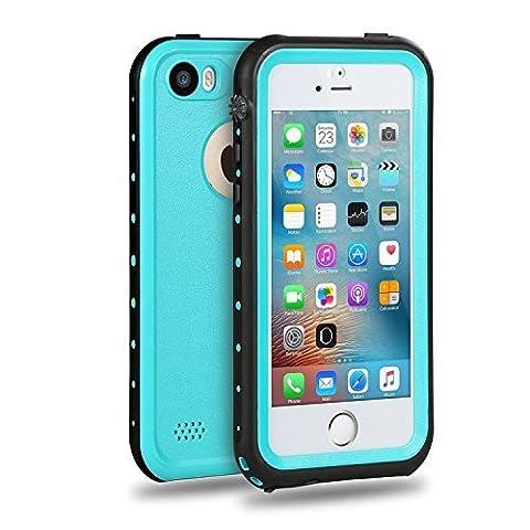 Imichael SE Case Waterproof iPhone 5/5s/SE Case - Blue (Blue Waterproof Iphone Case)