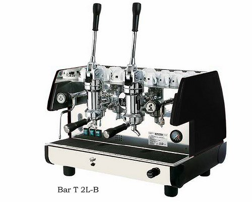 La Pavoni Bar 2L-B Lever Espresso Coffee Machine with Chromed Brass Groups, Golden Black, 14 liter boiler, Manual boiler water charge button, Anti-vacuum valve, Manometer for the boiler pressure control