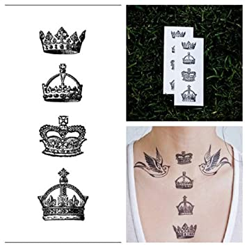 Tattify Crown Temporary Tattoo - God Save The Queen (Set of 2)
