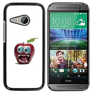 Paccase / SLIM PC / Aliminium Casa Carcasa Funda Case Cover - Funny Big Eye Apple - HTC ONE MINI 2 / M8 MINI