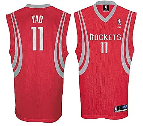 lowest price 42a14 38050 purchase houston rockets yao ming 11 red swingman nba jersey ...