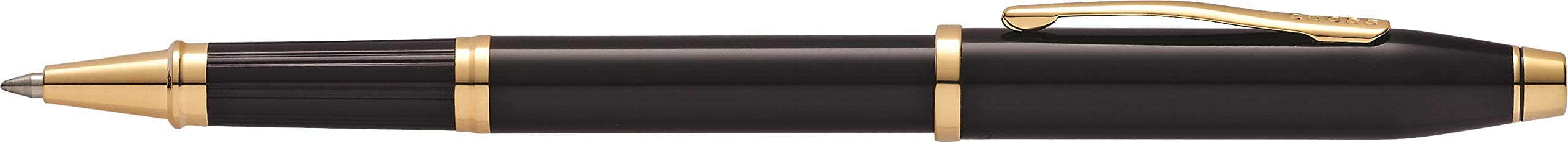 Cross Century II Black Lacquer Selectip Rollerball Pen with 23KT Gold-Plated Appointments by Cross (Image #3)