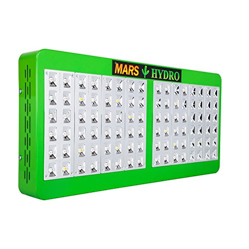 Marshydro Reflector 480W LED Grow Light Full Spectrum for Hydroponic Indoor Plants Veg and Bloom