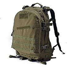 YAKEDA® Mountaineering bag men and women's shoulder bag backpack 3D tactical attack packets Climbing Backpack Travel Backpacks Camouflage pack Waterproof outdoor hiking backpack 45L--A88010 (Color 9)