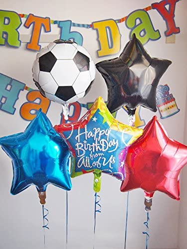 お誕生日は男の子の大好きなサッカーボールバルーンでお家や会場を素敵に飾ろう★ 「サッカーボール with バースデイバルーン セパレートタイプ」 楽しく飾ったり、ウェルカムギフトで配ったり使い方いろいろ♪ お届け日時指定も可能です。