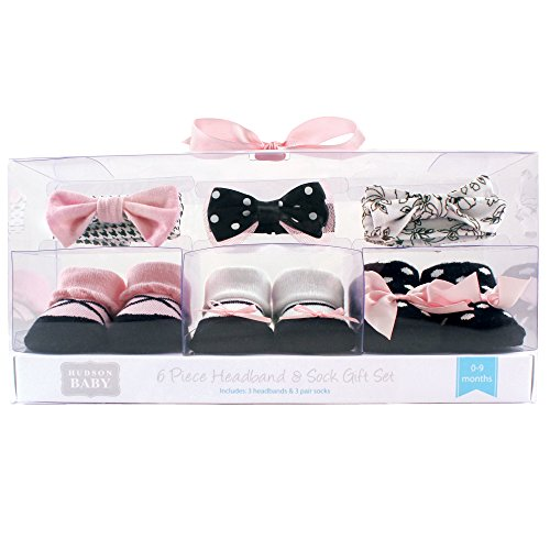 Hudson Baby Unisex Baby Headband and Socks Gift Set
