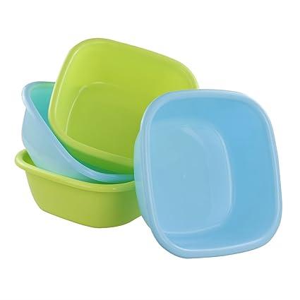 Amazon Ggbin 8 Quart Plastic Small Wash Basins 4 Pack Home