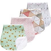 Burp Cloths Set Baby Burp Cloth for Boys and Girls Premium 100% Organic Cotton Absorbent Large Triple Layer Unisex Towels Burping Rags Pads for Newborns, Baby Shower