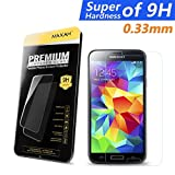 MAXAH® Samsung Galaxy S5 0.33mm Tempered Glass Screen Protector Film,2.5D Edge / 9H Hardness / 99.99% Clarity / Self-healing / Bubble-free Shield / Anti-scratch / Fingerprint Resistant / Explosion Proof / Silicone Adhesive / Oleophobic / Anti-glare / Matte / High Sensitivity / Completely Transparent / High Definition (HD)