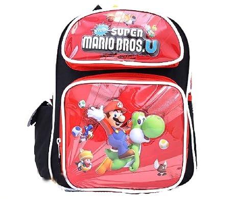 Super Mario con Yoshi - U mochila de poliéster y piel Bros   30,48 cm infantil con diseño de tamaño pequeño de mochilas escolares con: Amazon.es: Oficina y ...