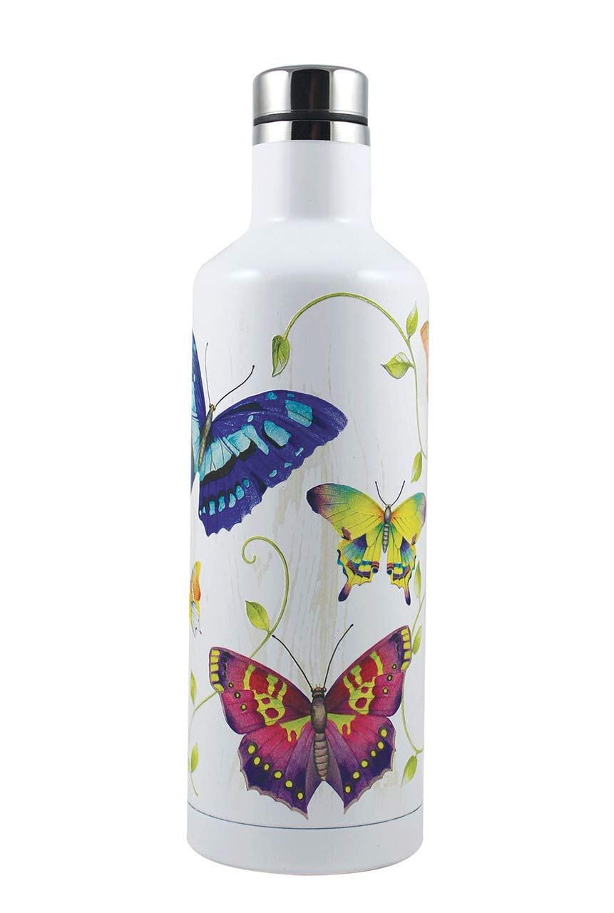 Amazon.com: Indigo Falls, decorado con textura, mariposas ...