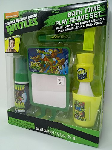 Nickelodeon Teenage Mutant Ninja Turtle Play Shave Set with have cup, Shave brush,