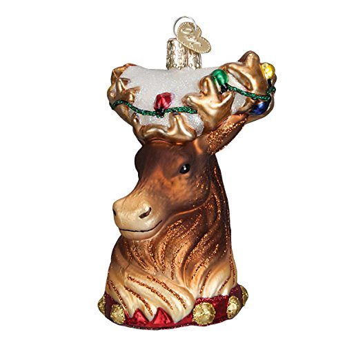(Old World Christmas Reindeer Glass Blown Ornament)
