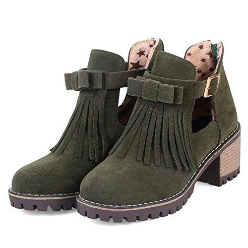 Women Boots KemeKiss Summer Green Chunky wOCxp