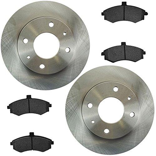 Brake Pad & Rotor Semi Metallic Set Kit for 02-05 Hyundai Elantra