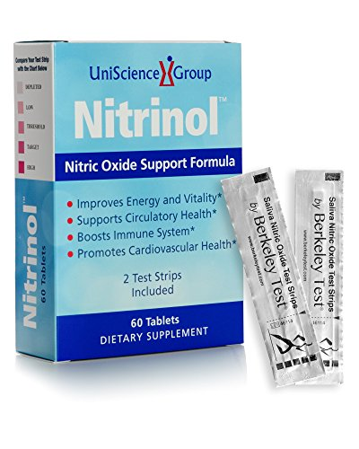 Nitrinol, Natural Nitric Oxide Booster with Beetroot Extract and 2 Free Berkeley Test Strips, 60 Tablets, As Low As $29.99 Each with Multi-box Deal