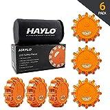 HAYLO LED Safety Flares Road Emergency Lights - Roadside Warning Car Safety Flare Kit for Vehicles & Boats - (Pack of 6)