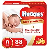 HUGGIES LITTLE SNUGGLERS, New Born, Baby Diapers, 88ct