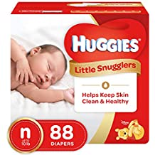HUGGIES Little Snugglers Baby Diapers, Size Newborn, 88 Count (Packaging May...