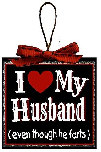 Husband Ornament (Christmas Decorations I Love My Husband Even Though He Farts Christmas Tree Ornament Husband Gift)