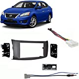 nissan sentra 2013-2018 double din stereo harness radio install dash kit  package