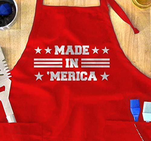 Grilling Inexpensive /& Funny UNISEX Bib Aprons GH/_00893/_apron July 4th Barbecue 4TH of JULY Apron For the one who loves to BBQ