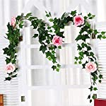 180cm-Artificial-Rose-Flower-Ivy-Vine-Wedding-Decor-Real-Touch-Silk-Flowers-String-with-Leaves-for-Home-Hanging-Garland-Decor180cm-Pink